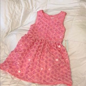 NWT Girls Cat + Jack Pink Tulle + Sequin Dress